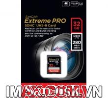 Thẻ nhớ Sandisk SDHC 32GB Extreme Pro UHS-II, U3, 280MB/s