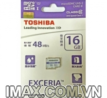 Thẻ nhớ Micro SDHC Toshiba 16GB class 10, UHS-I, 48MB/s
