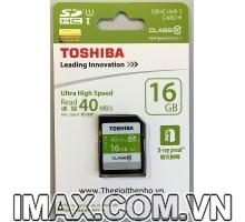 Thẻ nhớ Toshiba SDHC 16GB Class 10, UHS-I, 40MB/s