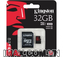 Thẻ nhớ Kingston Micro SDHC 32GB Class 10, U3, 90/80MB/s, 4K