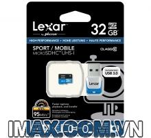 Thẻ nhớ Lexar Micro SDHC 32GB Class 10, UHS-I, 95MB/s + USB 3.0