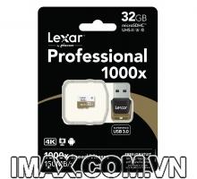 Thẻ nhớ Lexar Micro SDHC 32GB Class 10, UHS-II, U3, 1000X-150MB/s + USB 3.0