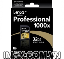 Lexar SDHC 32GB Class 10, UHS-II, 1000X-150MB/s