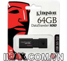 Kingston Digital 64GB DT100 G3 USB 3.0 DataTraveler