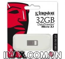 Kingston 32GB DTMicro USB 3.1, nguyên khối, không nắp