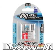 Pin sạc AAA 800mAh Ansman NiMH Micro 1.2V , vỉ 4v
