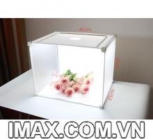 Hộp chụp sản phẩm 45cm có đèn Led 4D siêu sáng