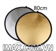 Hắt sáng tròn 2 in 1 vàng-bạc, size 80cm