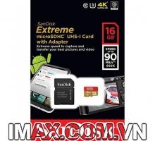 THẺ NHỚ SANDISK MICRO SDHC EXTREME 16G 90MB/S 600X