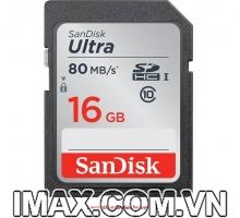 Thẻ nhớ SanDisk SDHC Ultra 16GB Class 10 80mb/s