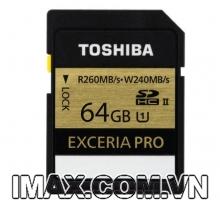Thẻ nhớ Toshiba EXCERIA PRO 64 GB UHS-II
