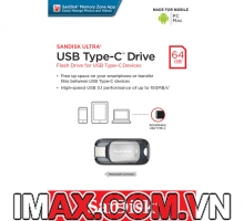 USB 3.1 SanDisk 64GB Ultra USB Type-C Flash Drive