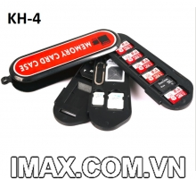 Hộp đựng thẻ nhớ Backpacker KH4 đựng SD, Micro, Sim, có chọc sim
