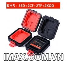 Hộp đựng thẻ nhớ Lynca KH-5, Chứa 2CF, 3SD, 2Micro, 2XQD