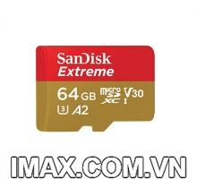 Thẻ nhớ Sandisk micro SDXC UHS-I 64GB  U3 A2 V30 160/60MB/s
