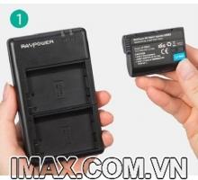 1 Pin 1 sạc máy ảnh chính hãng RAVPower RP-PB057 cho Nikon EN-EL15, EN-EL15A
