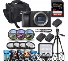 Combo 3 Body Máy ảnh Sony Alpha a6000 + 1 thẻ nhớ etreme pro 64gb + đèn led + chân máy + 1 pin + Filter màu