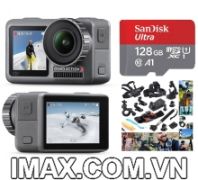 Combo DJI Osmo Action + bộ phụ kiện 30 in 1 + Thẻ nhớ 128gb quay full HD