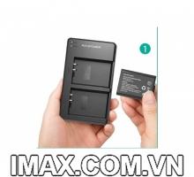 1 Pin và 1 Sạc máy ảnh RAVPower RP-BC014 tương thích Canon LP-E10