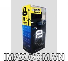 Máy quay Gopro Hero 8 Holiday Bundle (Chính hãng FPT)+Gậy Shorty, Dây đeo đầu, Thẻ SD 32GB Extreme và 2 Pin