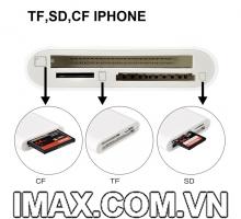 Đầu đọc thẻ TF, SD, CF cho Iphone