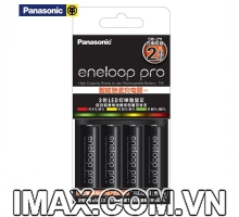 Bộ CC55 gồm 4 pin 1 sạc AA Eneloop Panasonic 2550mAh