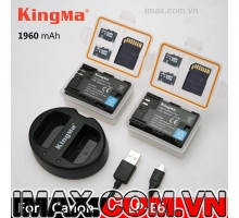 2 PIN 1 SẠC KINGMA CHO PIN CANON LP-E6