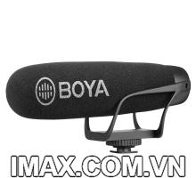 Micro thu âm Shotgun BOYA BY-BM2021 cho máy ảnh, máy quay, điện thoại, Tablet