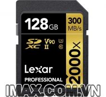 Lexar SDXC 128GB UHS-II, 2000X-300MB/s, Kèm Đầu đọc thẻ UHS-II