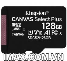 Thẻ nhớ Kingston Micro SDXC 128GB 100MB/s Canvas Select Plus  C10 U1 A1