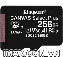 Thẻ nhớ Kingston Micro SDXC 256GB 100MB/s Canvas Select Plus  C10 U1 A1