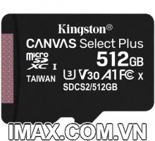 Thẻ nhớ Kingston Micro SDXC 512GB 100MB/s Canvas Select Plus  C10 U1 A1