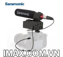 Mic shotgun tính hợp bộ chuyển đổi Saramonic MIXMIC 2 kênh XLR micro