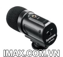 Mic thu âm Saramonic SR-PMIC2 Mini Stereo Condenser Microphone cho DSLR Camera, máy quay