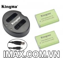 Bộ 2 pin 1 sạc đôi Kingma cho Canon NB-12L