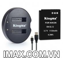 Bộ 1 pin 1 sạc đôi Kingma cho Nikon EN-EL12