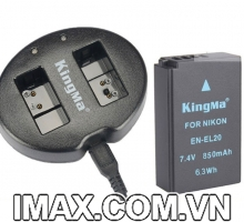 Bộ 1 pin 1 sạc đôi Kingma cho Nikon EN-EL20