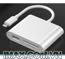 Đầu đọc thẻ TF, SD, USB- C cho Iphone, Ipad