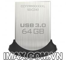 USB 3.0 Sandisk CZ43 Ultra Fit 64GB, tốc độ 130MB/s, No box