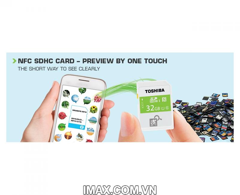 Thẻ nhớ SDHC Toshiba NFC 32GB Class 10 UHS-I 4