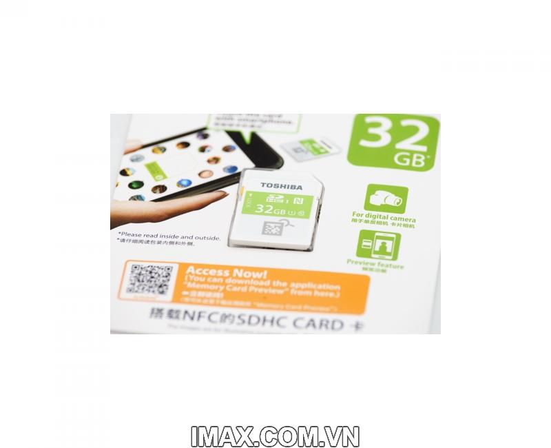Thẻ nhớ SDHC Toshiba NFC 32GB Class 10 UHS-I 5