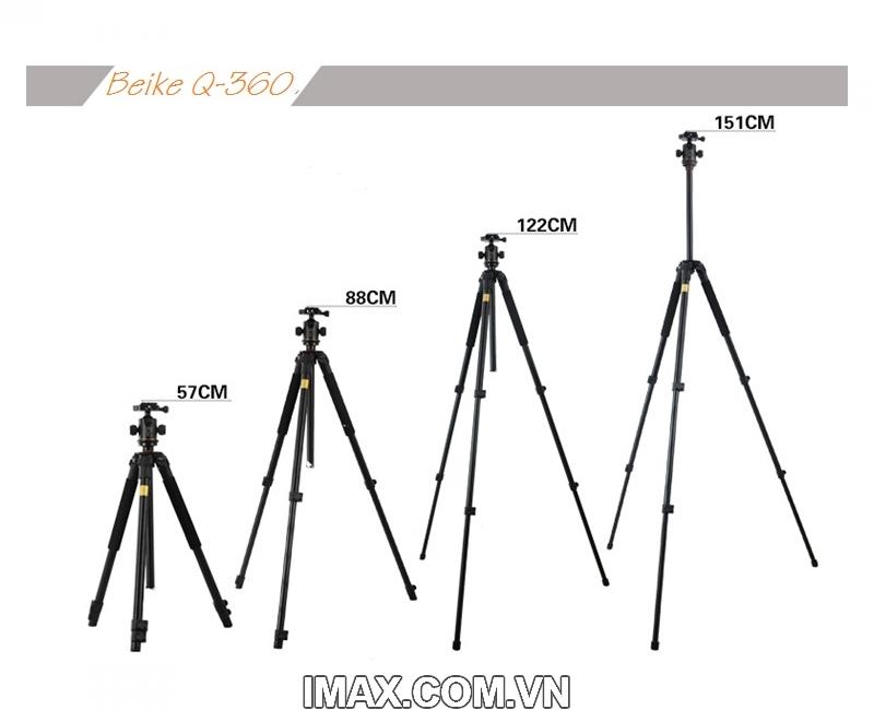 Chân máy ảnh Tripod Beike Q-360 4