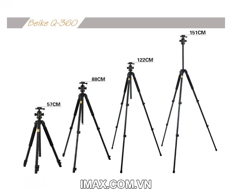 Chân máy ảnh Tripod Beike Q-360 5