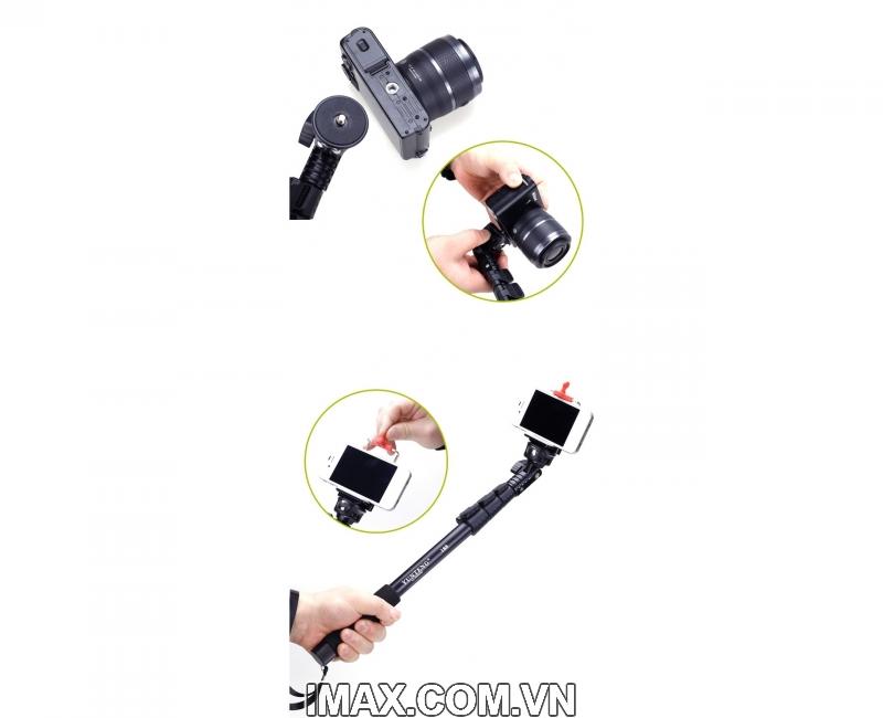 Yunteng 188, Gậy tự sướng/ Chân monopod Yunteng 188, dùng cho điện thoại, máy ảnh, máy quay 5