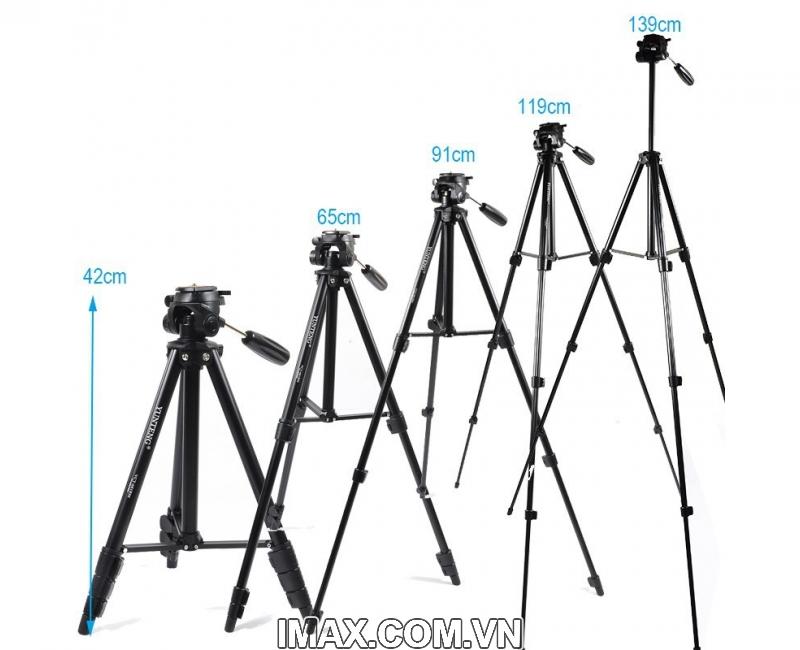 Chân máy ảnh / Tripod Yunteng 681, cao tối đa 1.38m 3