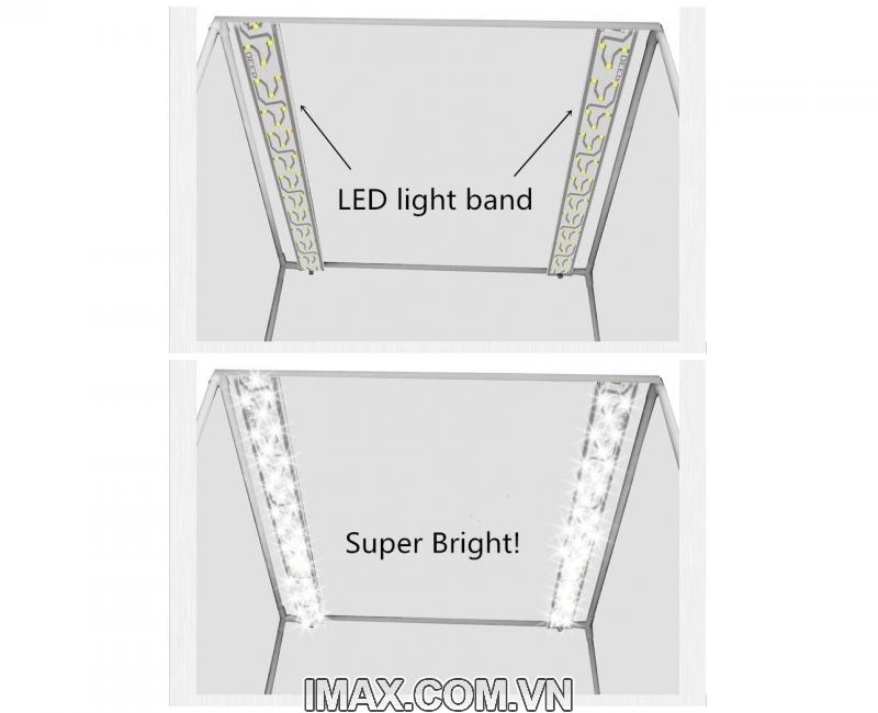 Hộp chụp sản phẩm Seny SN-60 Đèn Led siêu sáng cao cấp 60x60cm giá rẻ nhất 5