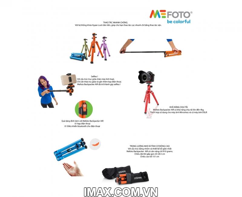 Chân máy ảnh Mefoto Backpacker AIR 28