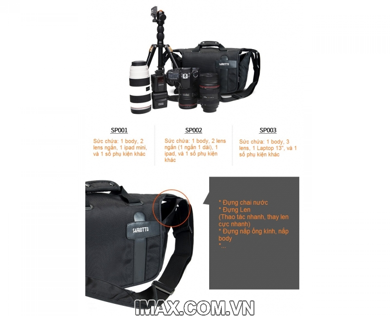Túi máy ảnh Safrotto SP-001, chống nước 2