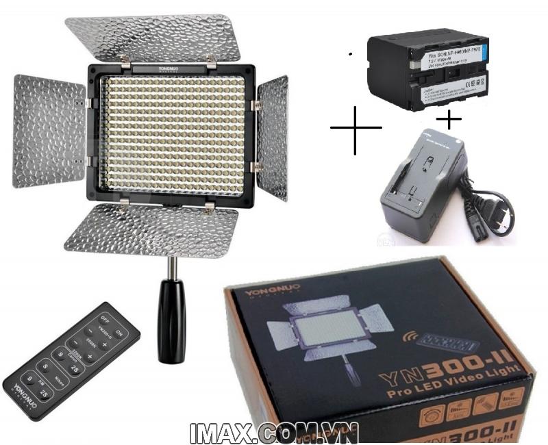 Bộ Đèn YN 300 II + Pin F970+ Sạc 1