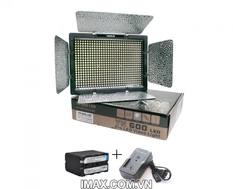 Bộ Đèn YN600 + Pin F970 + Sạc 1